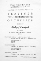 Programme for the concert in Berlin